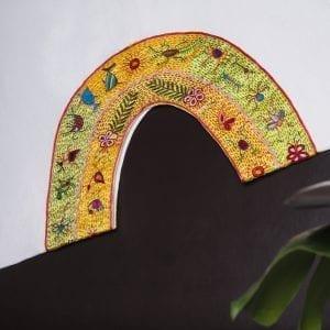 Huipil-embroidered kaftan dress-womens